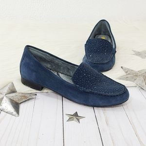 Very Volatile Comfee blue studded suede loafers 7